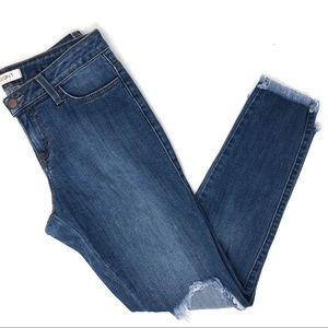 Vibrant MIU Distressed Skinny Jeans